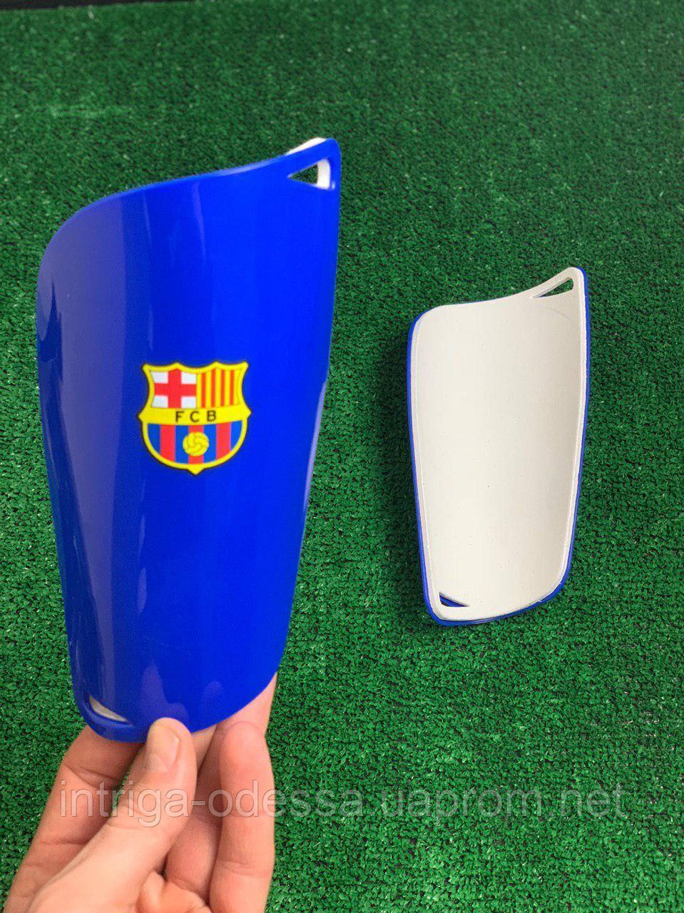 Щитки для футбола  Барселона  синие 1088