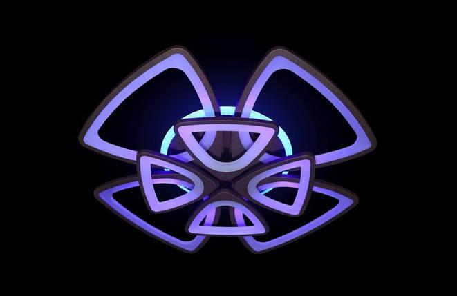 Светодиодная припотолочная люстра с подсветкой. Площадь освещения 18-22 кв.м5548/4+4 CF LED, фото 2