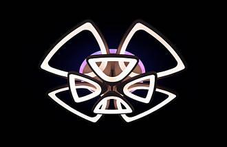 Светодиодная припотолочная люстра с подсветкой. Площадь освещения 18-22 кв.м5548/4+4 CF LED, фото 3