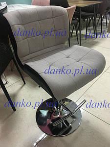 Стул барный В-75 cерый+черный от Vetro Mebel, кожзам+ткань