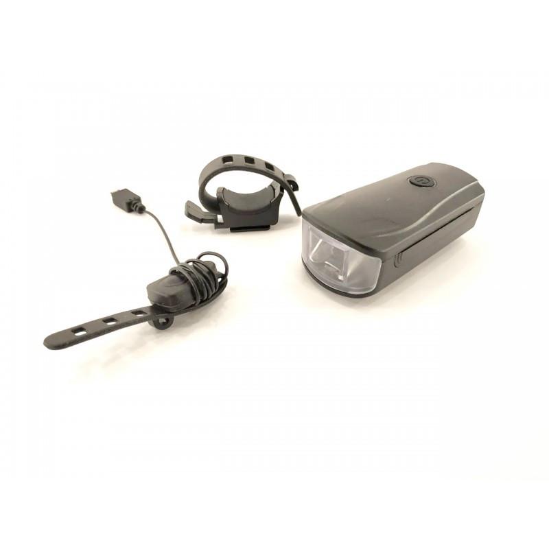 Фара с зарядкой под USB, с сигналом и сигнализацию для велосипеда, модель WT-2202, (GA-83)