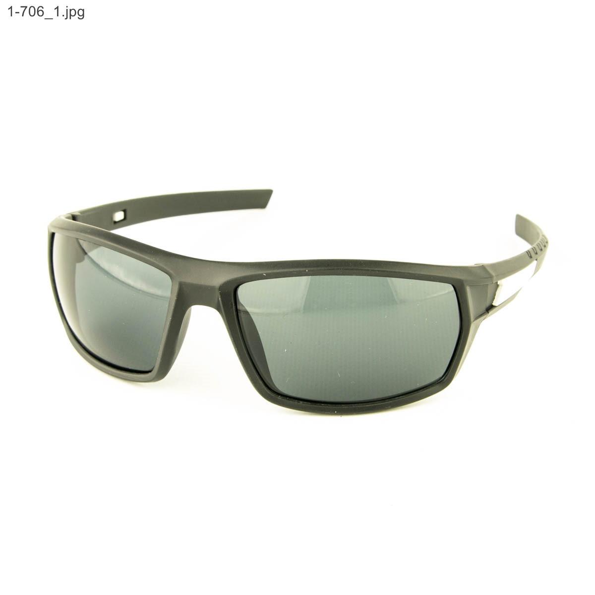 Мужские солнцезащитные очки черные - 1-706