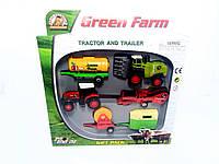 Игрушечный набор Трактор и Трейлер Green Farm PT 416