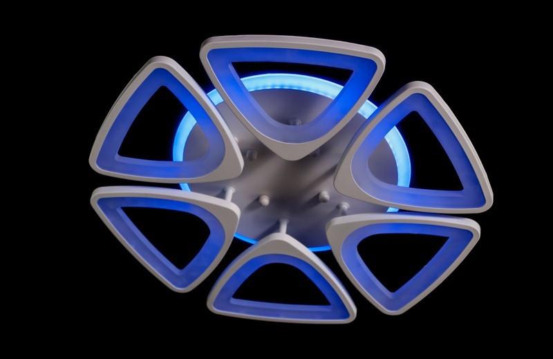 Светодиодная припотолочная люстра с подсветкой. Площадь освещения 15 кв.м5548/6 LED dimmer
