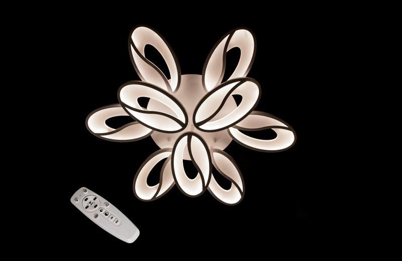 Светодиодная припотолочная люстра с диммером. Площадь освещения 12-18 кв.м5565/6+3 Dimmer