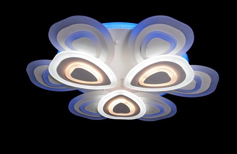 Светодиодная припотолочная люстра с диммером. Площадь освещения 16-22 кв.м5567-6+3 LED