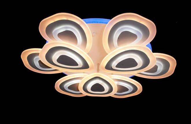 Светодиодная припотолочная люстра с диммером. Площадь освещения 16-22 кв.м5567-6+3 LED, фото 2