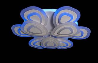 Светодиодная припотолочная люстра с диммером. Площадь освещения 16-22 кв.м5567-6+3 LED, фото 3