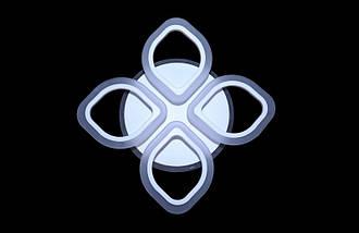 Светодиодная припотолочная люстра на три режима света. 5576/4 WH, фото 2