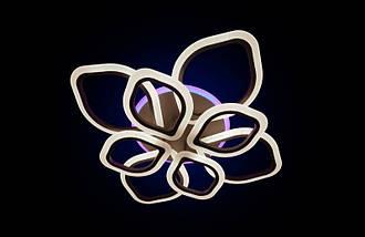 Светодиодная припотолочная люстра на три режима света. 5576/4+4 CF LED, фото 3