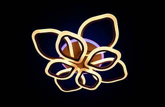 Светодиодная припотолочная люстра на три режима света. 5576/4+4 CF LED, фото 2