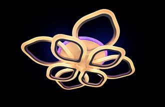 Светодиодная припотолочная люстра на три режима света. 5576/4+4 WH LED, фото 2
