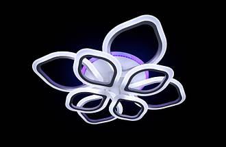 Светодиодная припотолочная люстра на три режима света. 5576/4+4 WH LED, фото 3