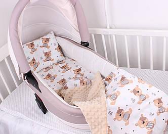 """Комплект в коляску для новорожденного """"Мишки"""""""