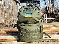 Тактический походный крепкий рюкзак 40 литров олива. Нейлон 600 Den.