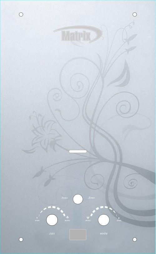 Газ. колонка MATRIX (Біла з квіткою)