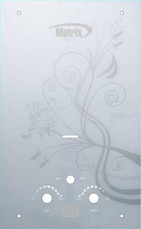 Газ. колонка MATRIX (Біла з квіткою), фото 2