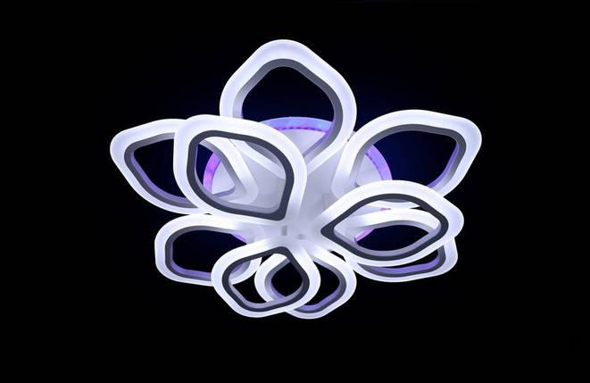 Светодиодная припотолочная люстра на три режима света. 5576/6+3 WH LED, фото 2
