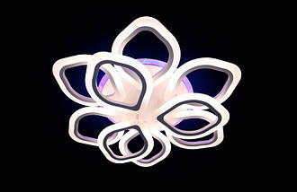 Светодиодная припотолочная люстра на три режима света. 5576/6+3 WH LED, фото 3