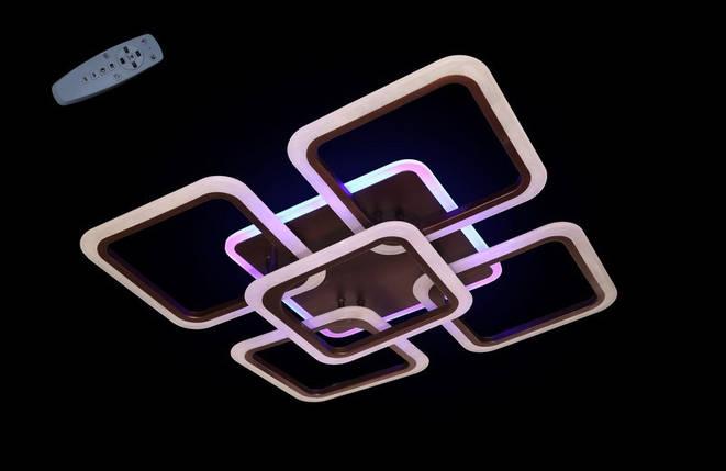 Современная светодиодная люстра с поочередным включением трех режимов и пультом. Площадь освещения 15-18 кв.м5588-4+1CF LED Dimmer, фото 2