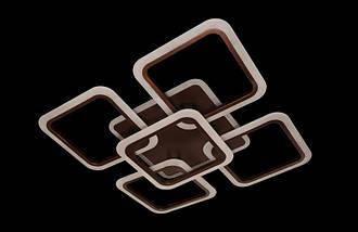 Современная светодиодная люстра с поочередным включением трех режимов и пультом. Площадь освещения 15-18 кв.м5588-4+1CF LED Dimmer, фото 3