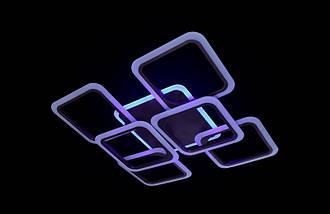 Современная светодиодная люстра с поочередным включением трех режимов и пультом. Площадь освещения 15-20 кв.м5588-4+2CF LED, фото 2