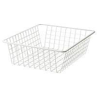 Дротяний кошик IKEA КОМПЛИМЕНТ Проволочн корзина, белый, 50x58 см (502.572.67)