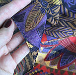 Палантин шерстяной 10530-2, павлопосадский шарф-палантин шерстяной (разреженная шерсть) с осыпкой, фото 7