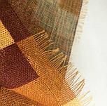 Палантин шерстяной 10530-2, павлопосадский шарф-палантин шерстяной (разреженная шерсть) с осыпкой, фото 9