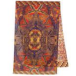 Палантин шерстяной 10530-2, павлопосадский шарф-палантин шерстяной (разреженная шерсть) с осыпкой, фото 2