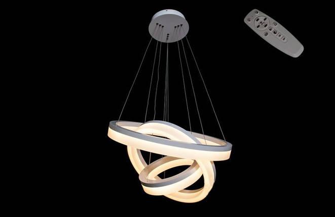 Светодиоднаю люстра с диммируемым пультом8123/600+450+300 WH, фото 2