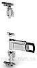 Запорный замок задних ворот фургона наружный оцинкованный Ø 27 мм Турция