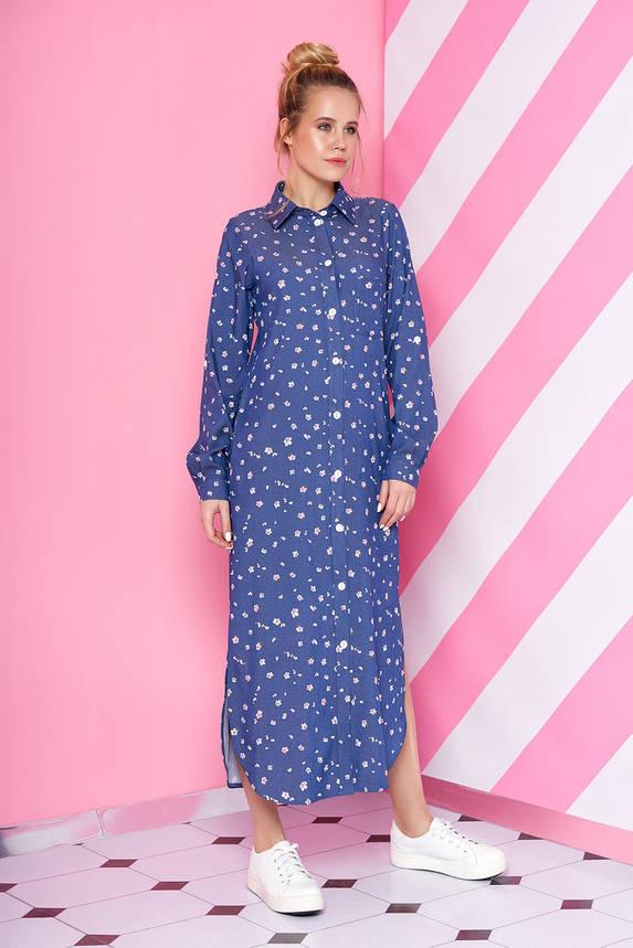 Платье рубашка длинное из джинс-коттона, фото 2