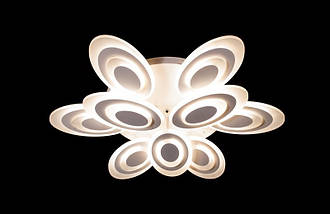 Светодиодная припотолочная люстра с диммером. Площадь освещения 16-20 кв.м8565-6+3 LED, фото 3