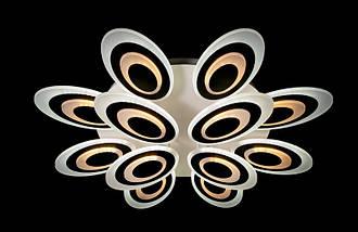 Светодиодная припотолочная люстра с диммером. Площадь освещения 18-26 кв.м8565-8+4 Dimmer, фото 3