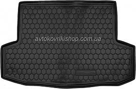 Резиновый коврик багажника Chevrolet Aveo 2002- (седан) Avto-Gumm