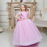 """Пышное бальное платье с блестками для девочки """"Валери"""" розовое, фото 1"""