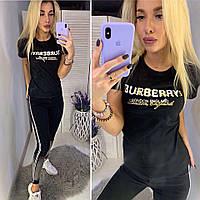 Футболка женская Burberry, барбери черная