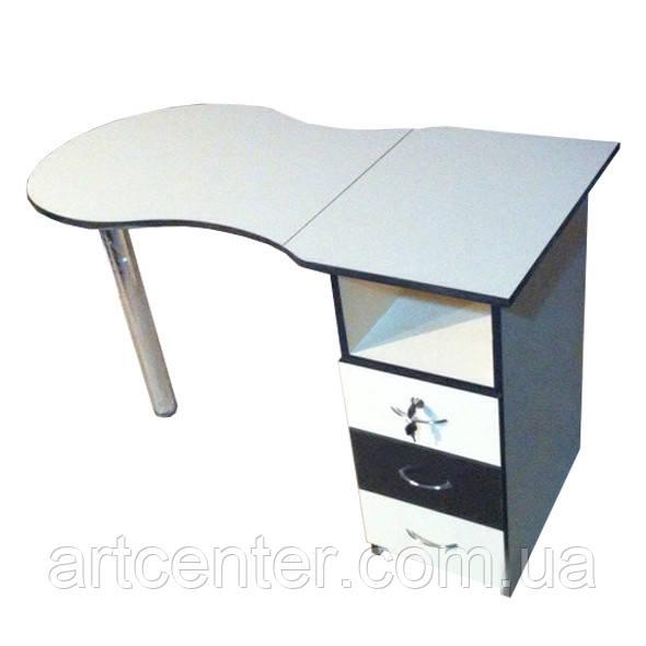 Маникюрный стол с  выдвижными ящиками складной