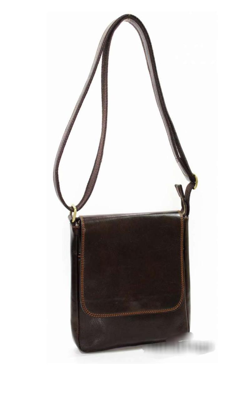 Мужская сумка из натуральной кожи через плечо