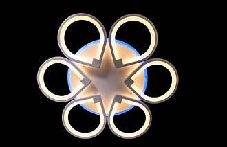 Светодиодная люстра с подсветкой и пультом. 8883/6 LED, фото 2