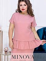 Нарядное платье с баской батал, фото 1