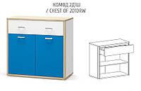 Комод 2Д1Ш ЛЕО Мебель-Сервис, фото 1