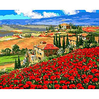 """Картина по номерам, картина-раскраска """"Тоскана Вилла"""" 40Х50см VP1061"""
