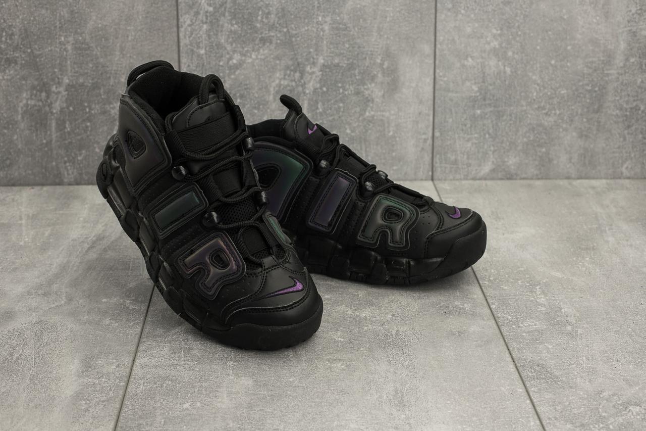 Кроссовки B 8587 -10 (Nike Air More Uptempo) (весна/осень, женские, искусственная кожа, черный)
