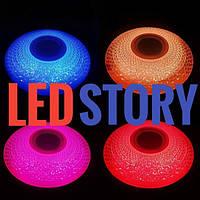 Cветодиодный светильник Z-Light круг с музыкальным динамиком и пультом 30W, RGB+режимы свечения 3000К/4000К/6500К