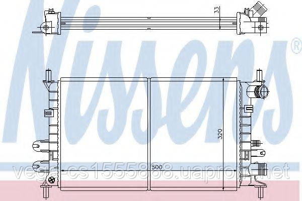 Радиатор охлаждения двигателя Nissens 62163 на Ford Orion / Форд Орион