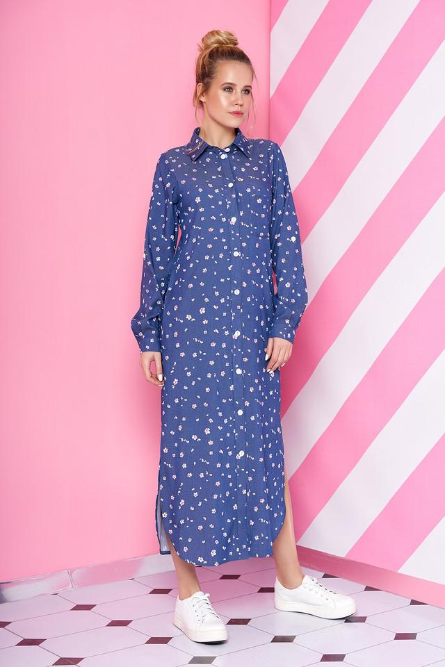 718c5c9f9bb Платье Рубашка Длинное в Горошек Из Джинс-коттона — в Категории ...