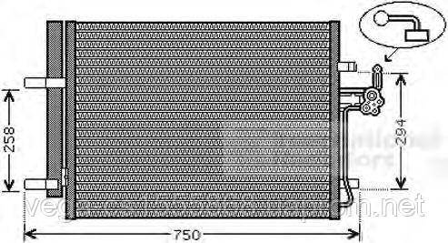 Радиатор кондиционера Van Wezel 18005428 на Ford Mondeo / Форд Мондео