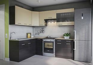 Кутова кухня Марта 1700*2300 мм (венге)
